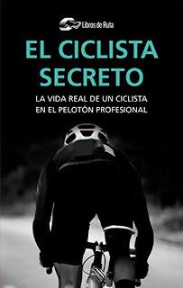 Portada del libro El ciclista secreto en el que se ve un corredor corriendo de espaldas vestido con un maillot negro