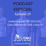 EPISODIO 29: Análisis equipos WT 2021(IV): Lotto, Bahrain, EF, UAE y Alpecin