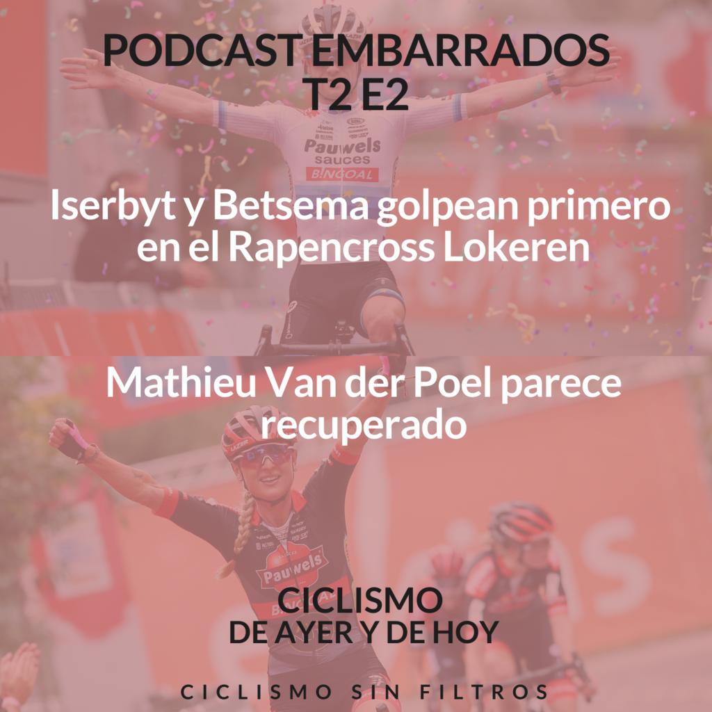 Portada podcast embarrados temporada 2 episodio 2 con Eli Iserbyt y Denise Betsema en la portada