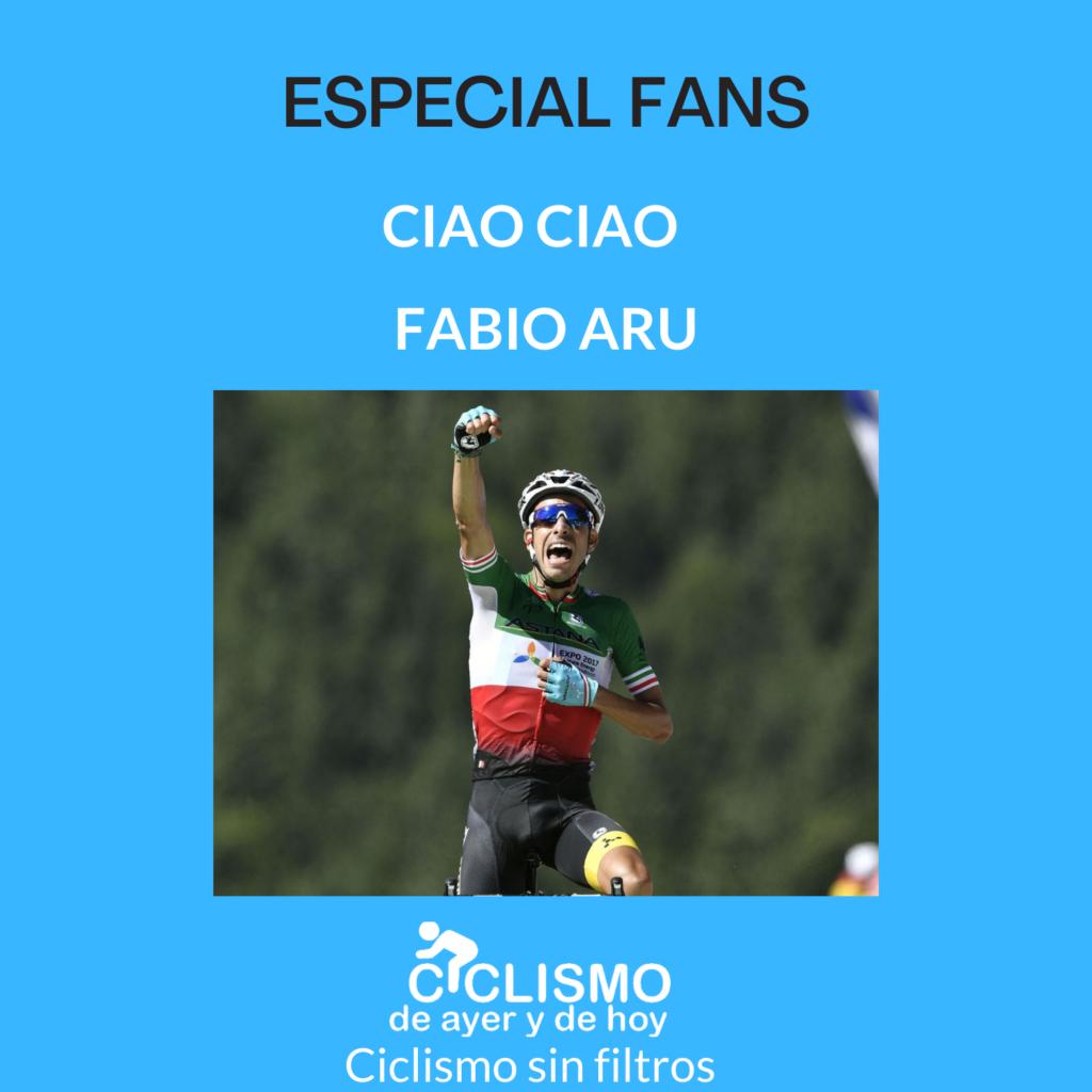 Portada del episodio exclusivo para fans donde se ve a Fabio Aru ganando en el Tour de Francia 2017